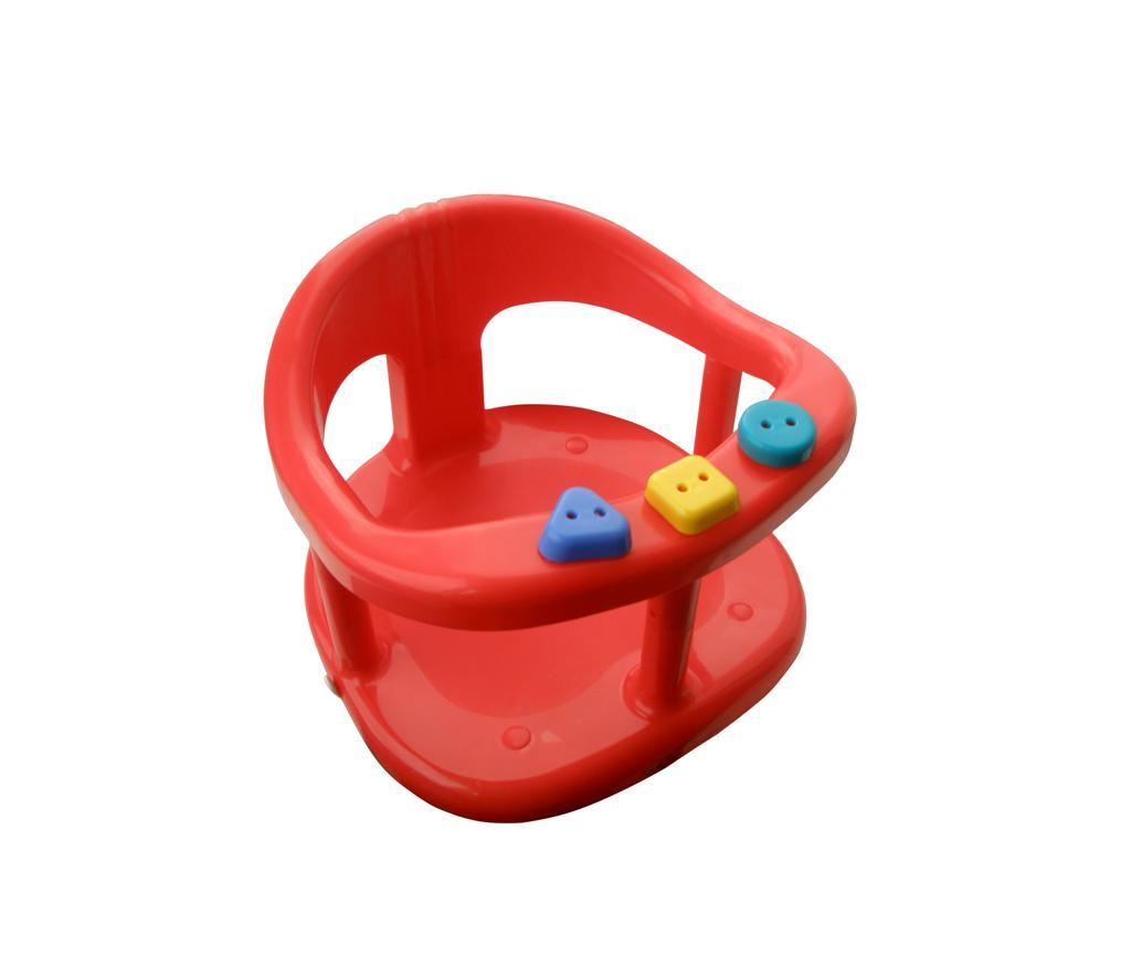 baby bath safety seat tub ring red anti slip chair bath