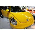 3D Car Eyelashes Lashes Headlight Lamp Decals Stickers