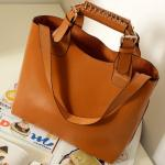 Ladies  Vintage PU Leather  Handbag Large Bag